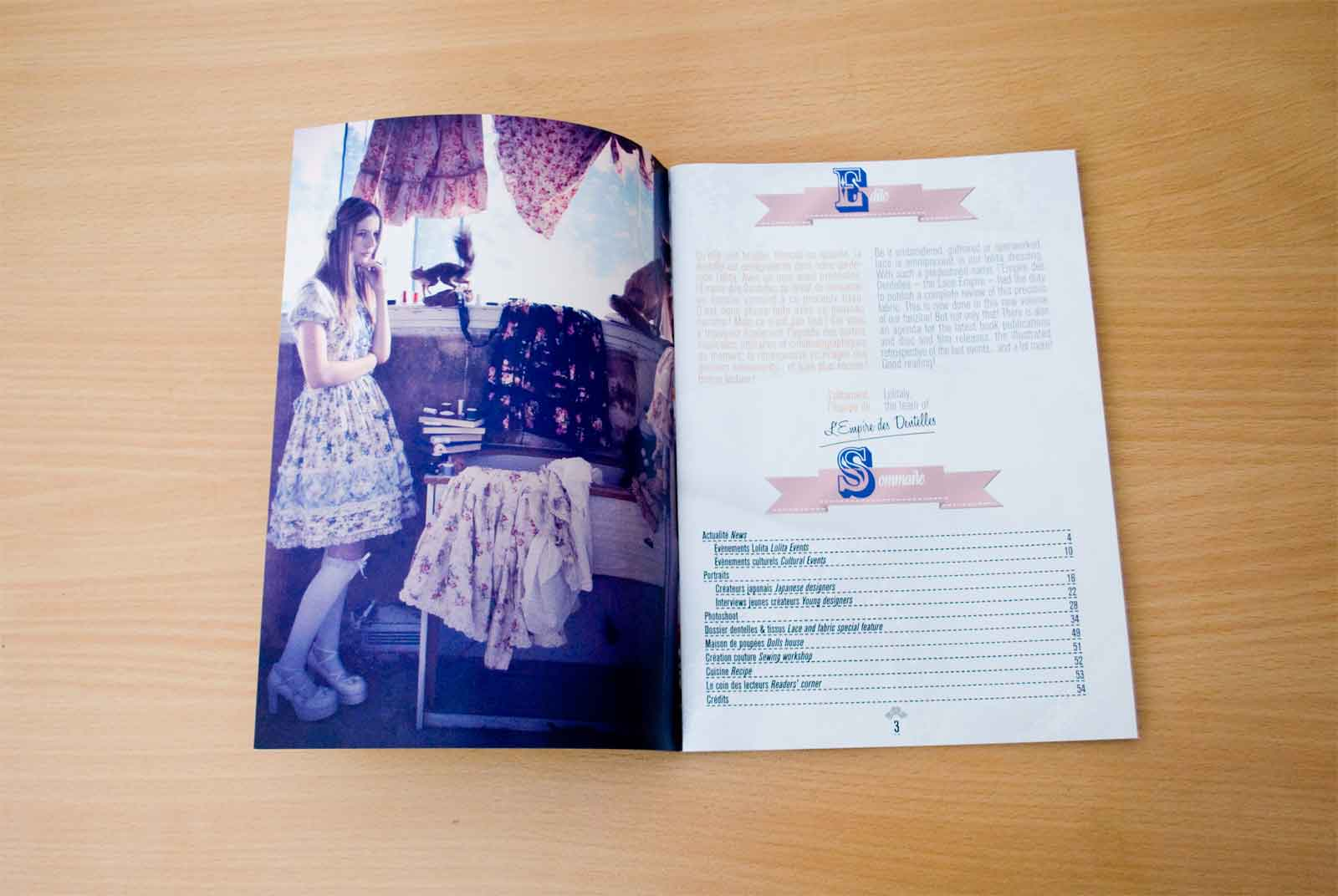Slide 2/6 of my work on the lolita fashion publication