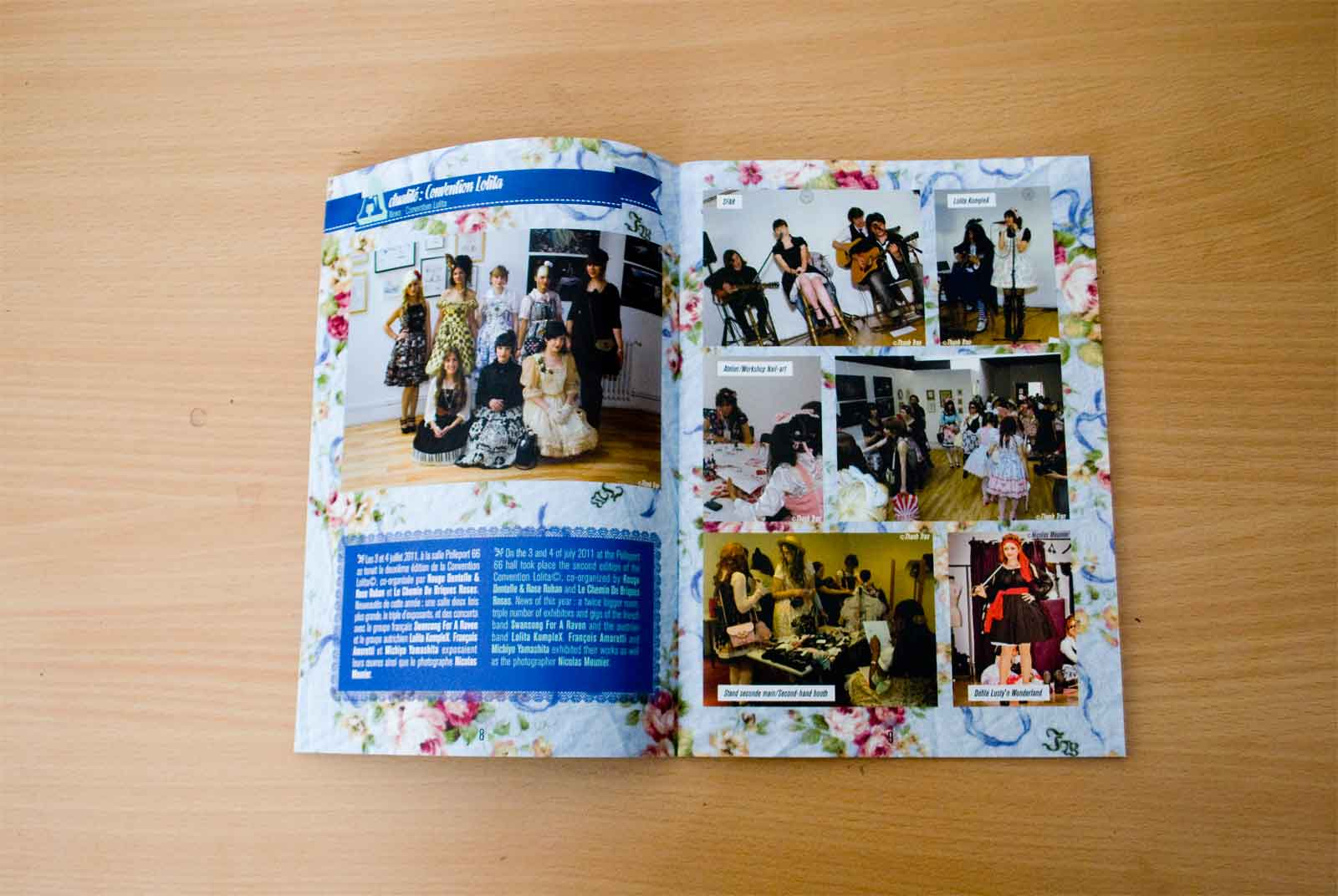 Slide 3/6 of my work on the lolita fashion publication