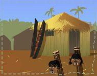 """Jivaro"", a mini flash-game (school assignment) by messalyn (thumbnail)."