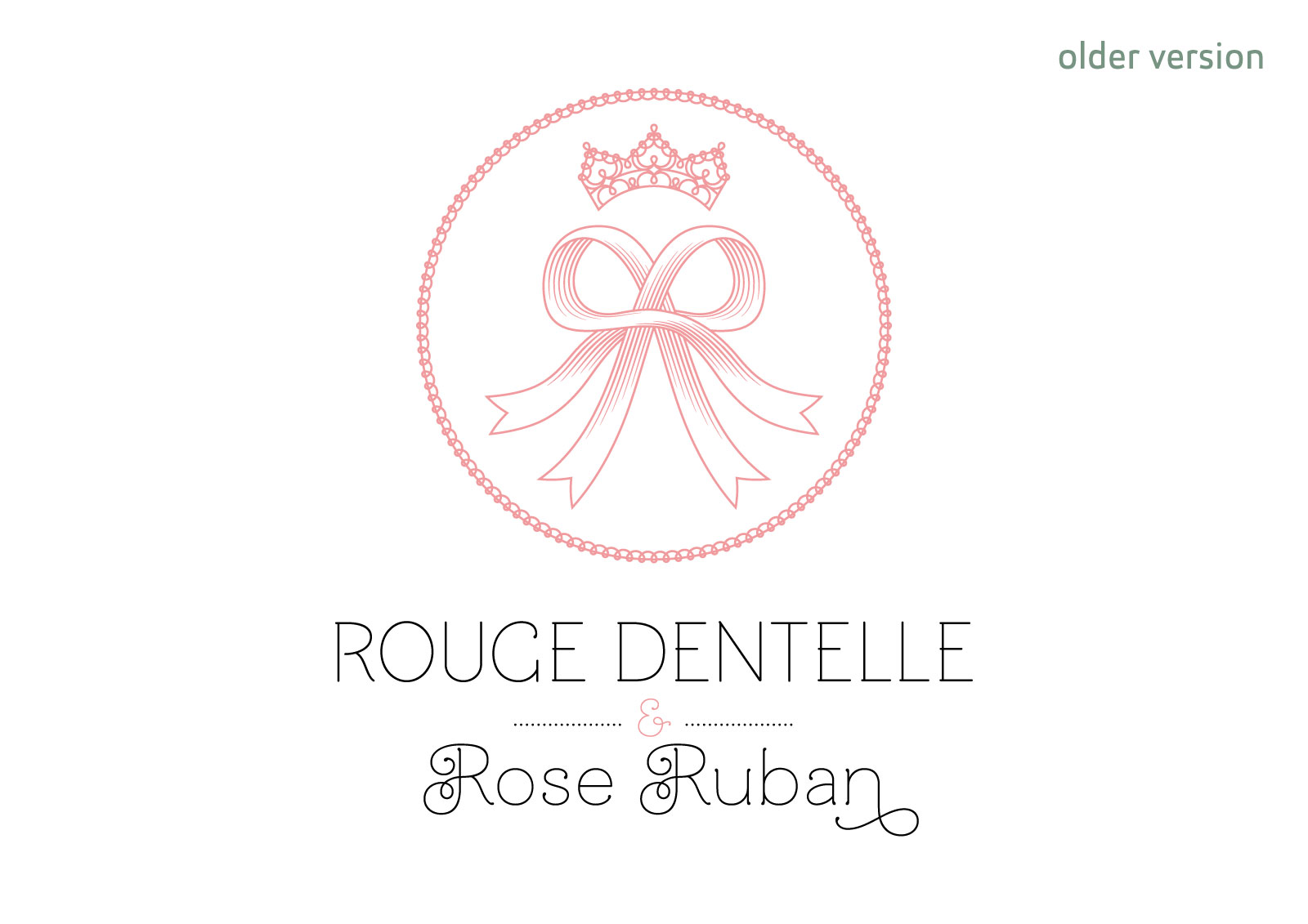 "Older version of the logo of french lolita association ""Rouge Dentelle & Rose Ruban"" (vertical version)"