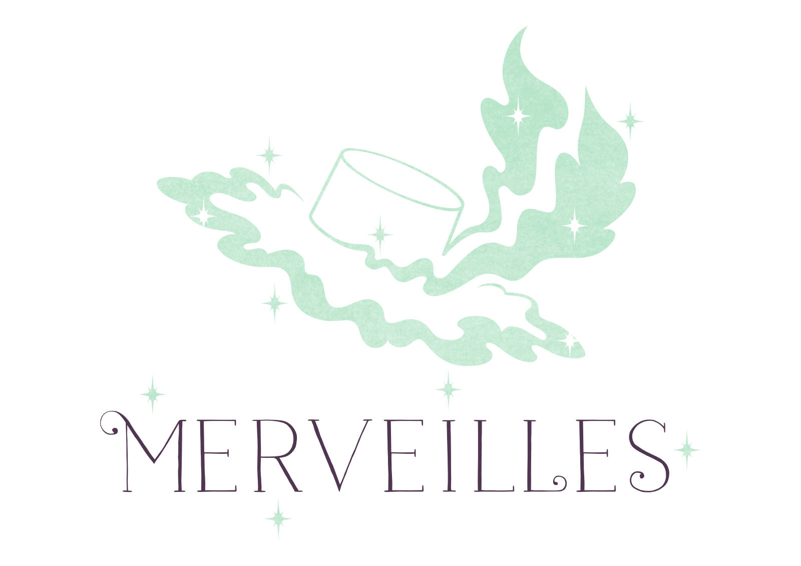 "Logo of ""Merveilles"", an indie Lolita brand specialized in millinery."