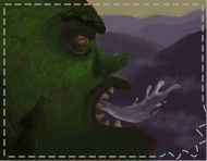 """Vilaines jetant des gnomes"", a digital painting by messalyn (thumbnail)."