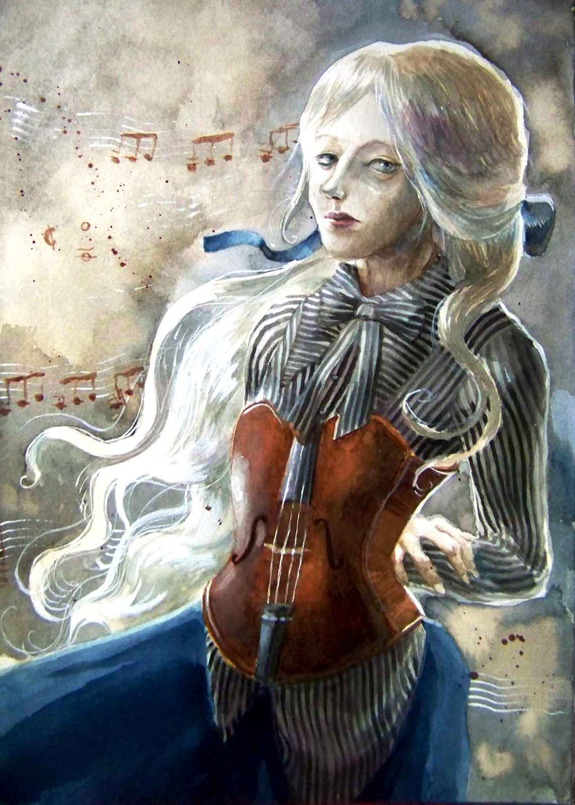 Portrait of a lady with white / grey hair wearing an alto corset upon a shirt by Atelier BOZ.