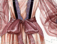 """Petits herbiers lingerie"", a serie of original watercolour paintings by messalyn (thumbnail)."