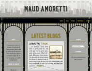 """maudamoretti.com"", an original webdesign, visual identity and logotype by messalyn (thumbnail)."